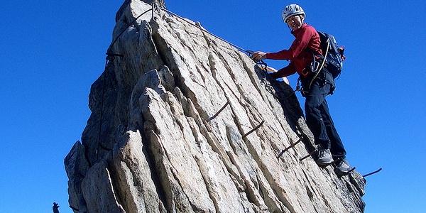 Am Eggishorn-Klettersteig.