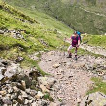 Steep path up from Grisedale Tarn