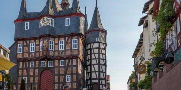 Zehntürmiges Rathaus in Frankenberg