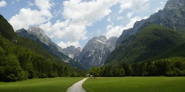 Upper part of the Loška Koritnica Valley
