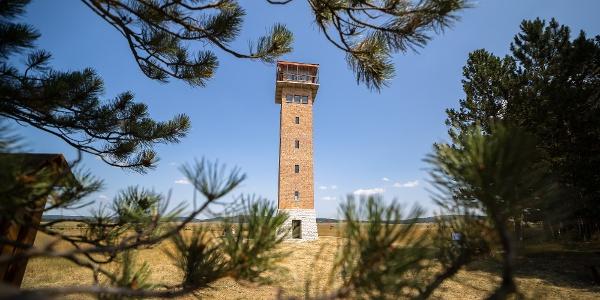A kilátóvá alakított nagyvázsonyi katonai torony