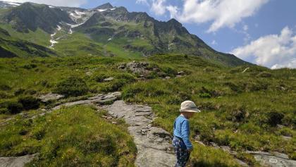 Auch die kleinsten Bergfreunde kommen beim Zustieg auf ihre Kosten