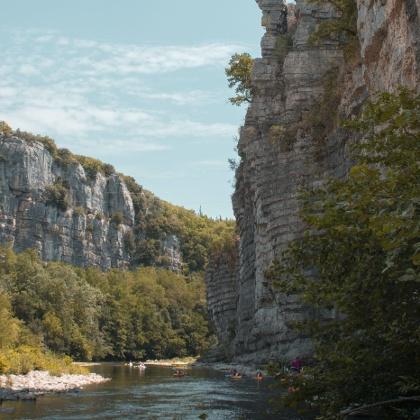 Wandern in der Gorges de l'Ardèche