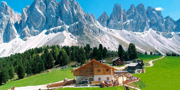 The fabulous Geisler hut under the Odle group in Funes is definitely a place to visit.