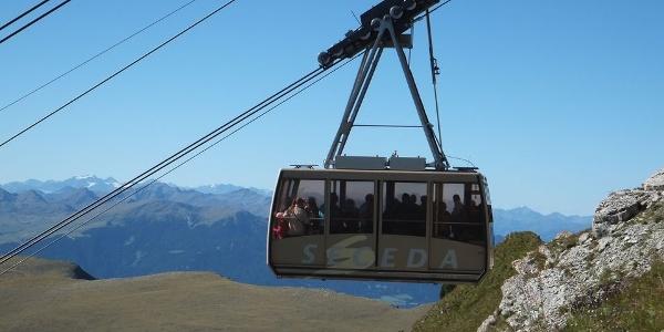 The Seceda cable car Val Gardena.