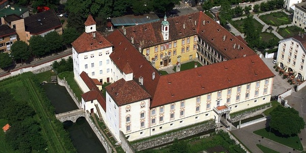 The imperial palace of Bressanone in an aerial view