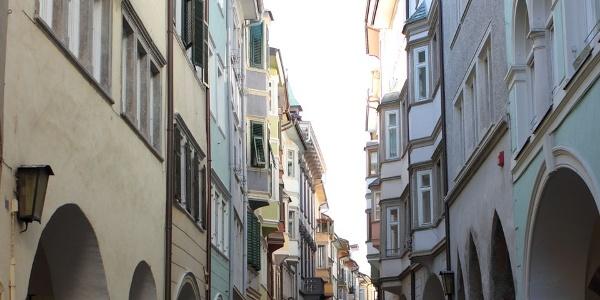 Under the arcades of Bolzano