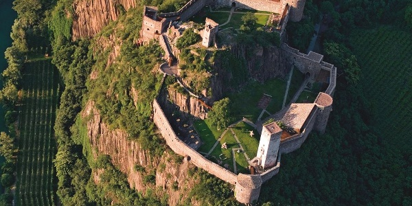 The Castel Firmiano castle seen from above.