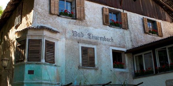 Bad Turmbach in Eppan Berg hatte bis 1970 einen laufenden Bäderbetrieb.