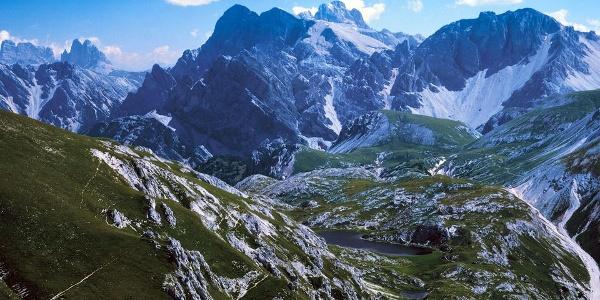 Zählt zu den schönsten Bergseen in den Dolomiten.