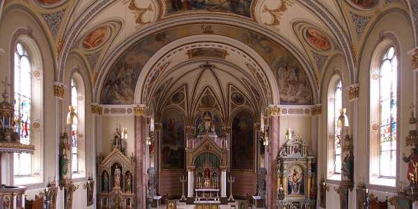 Blick ins Innere, Pfarrkirche Heiliger Jodok