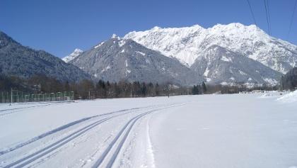 Einstieg nähe Pfarrkirche Gantschier - Blick Richtung Vandanser Steinwand