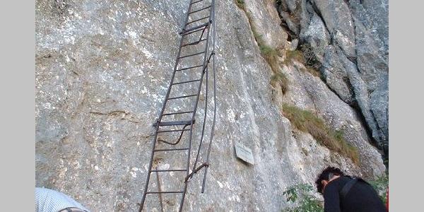 Klettern im Höllental.