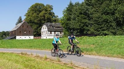 Radfahren Zwönitztal-Radweg Thalheim