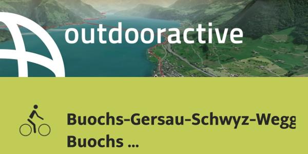 Radtour in der Zentralschweiz: Buochs-Gersau-Schwyz-Weggis- Buochs (Rigirundfahrt