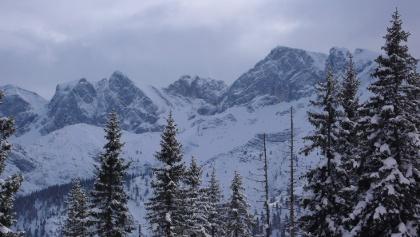 Blick vom Gipfel auf die Nordabstürze des Rofan