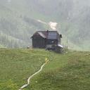 Hochweißsteinhaus im Regen