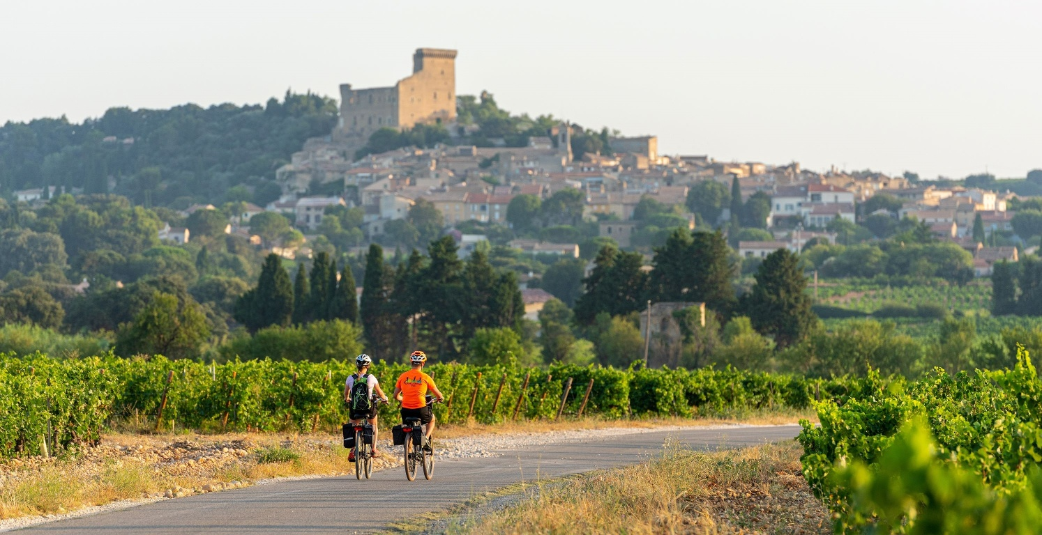 Cyclotouristes sur la ViaRhôna