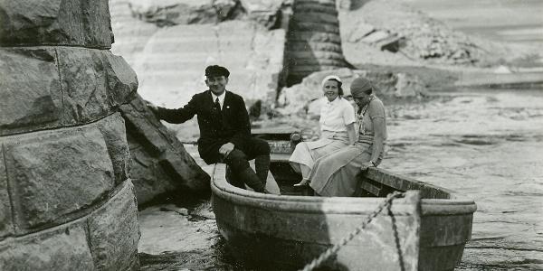 Personenfähre bei Scheid auf dem Edersee, 1920-1929