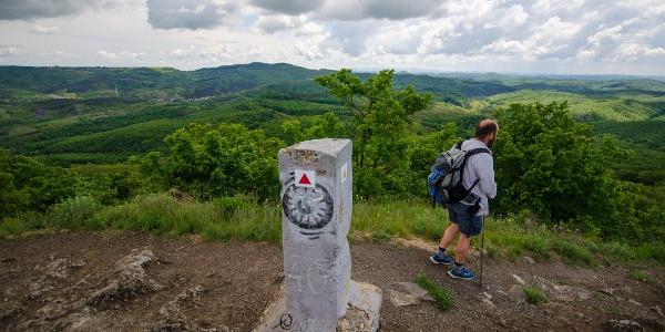Csúcskő és kilátás a Pécskőről