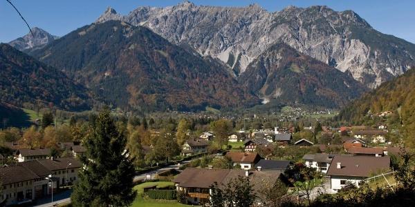 Blick vom Gaueserwaldweg nach Gantschier