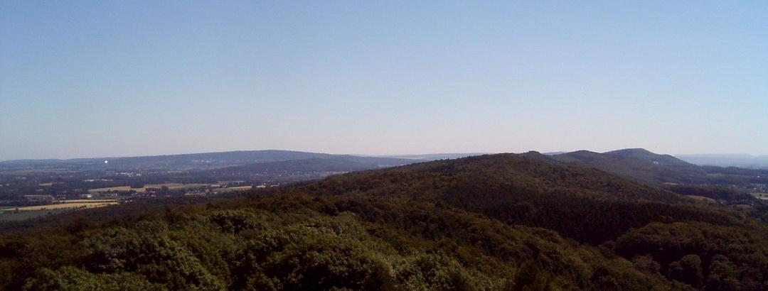 Panoramablick vom Bückeberg Weg
