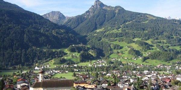 Panoramablick über Schruns