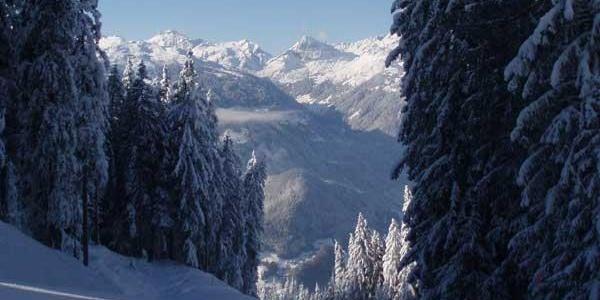 Blick vom Hochjoch ins Tal