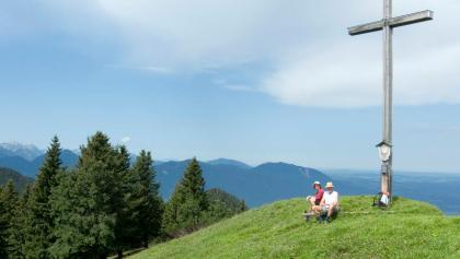 Gipfelrast auf dem Rauheck