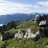 Ausblick von der Aufstiegsroute zum Karwendelgebirge