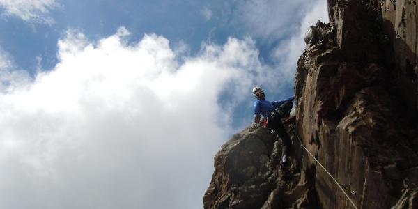 Auf dem Glungezer-Klettersteig