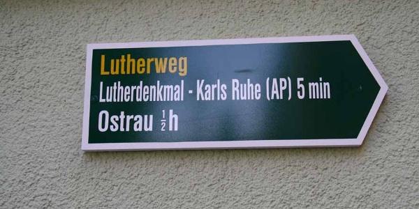 Wegpfeiler Lutherweg