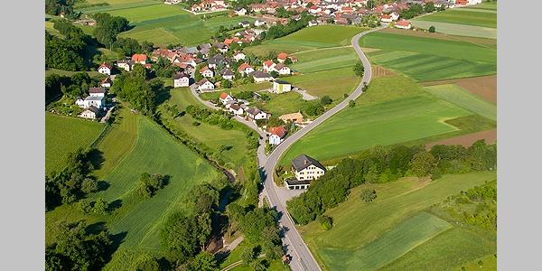 Blick über Trandorf und den Großen Berg