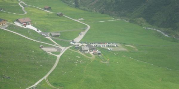 Start der Tour beim Parkplatz der Oberiss Hütte