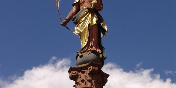 Mariensäule - Platz am Bild in Buchen (Odenwald)