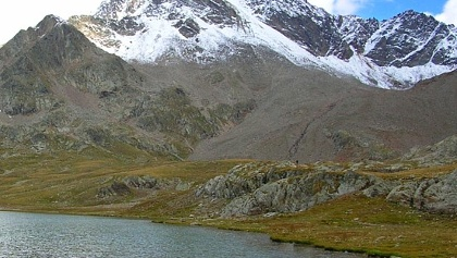 Der Lago Bianco am Gaviapass.