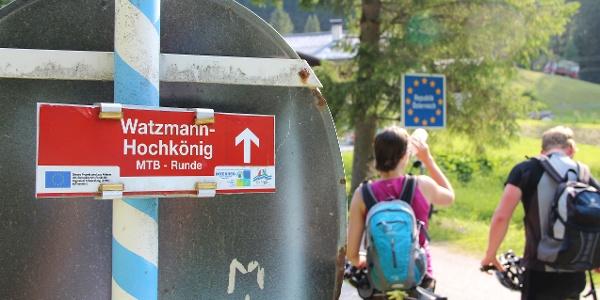 Am Hirschbichl zurück in Österreich