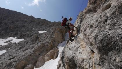 Klettersteigen im Rosengarten