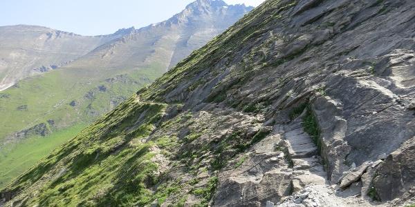 Der steile aber gut angelegte Steig zur Hütte