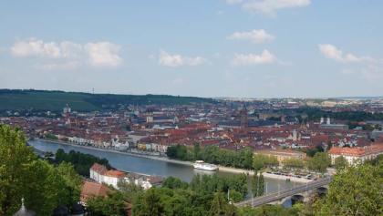 Blick auf Würzburg vom Käppele aus