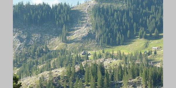 Blick auf Ybbstalerhütte vom Noten
