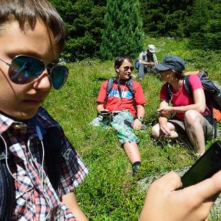 Mit dem Smartphone auf den Spuren des Gletschergeists Spiertin.