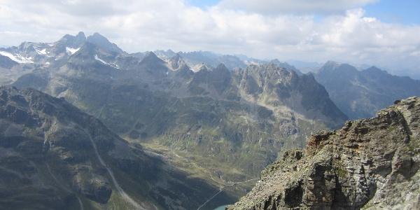 Blick vom Hohen Rad in Richtung Vorarlberg