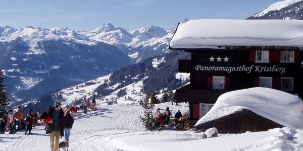 Panoramagasthof Kristberg im Winter