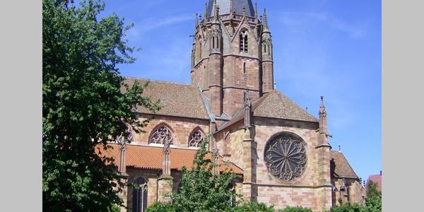 Abteikirche St. Peter und  St. Paul - zweitgrösste Kirche im Elsass