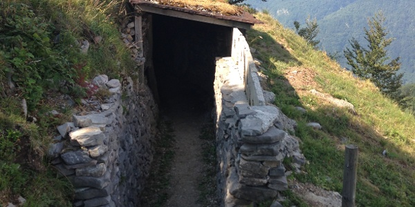 Schützengraben aus dem 1. WK am Kolovrat - Freilichtmuseum