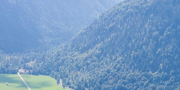 Hüttenaussicht nach Bayrischzell