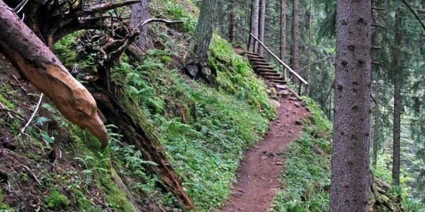 Beim Aufstieg zur Schlernbödelehütte