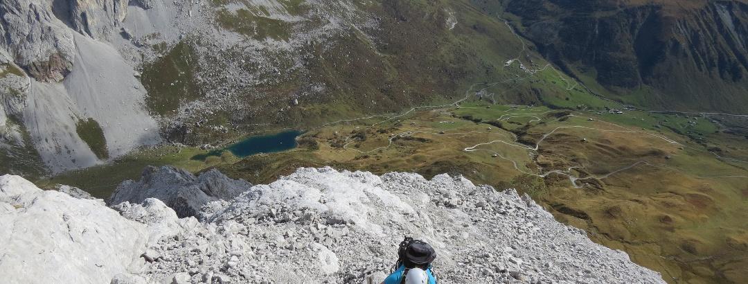Am Klettersteig Sulzfluh