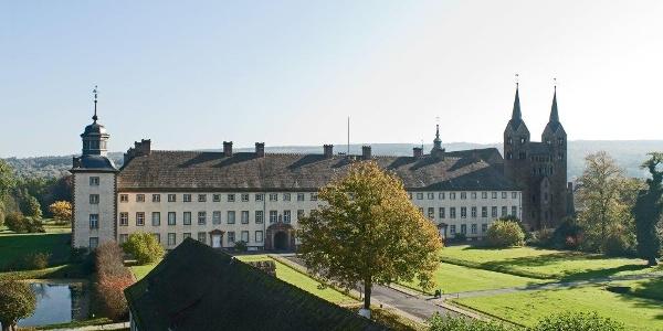 Schloss Corvey an der Weser